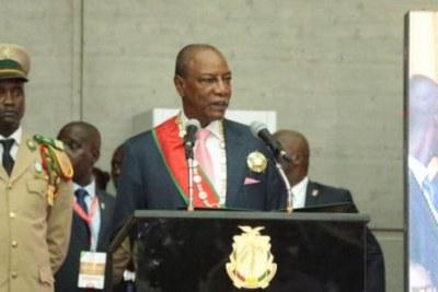 Investiture d'Alpha Condé en Guinée