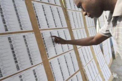 Electoral list in Niger (file photo).