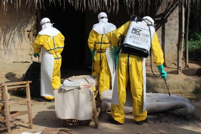Ebola prevention workers