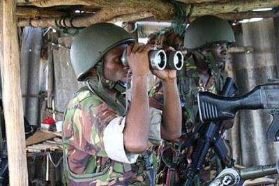 Troupes kényanes lors d'une opération en Somalie (photo d'archive).