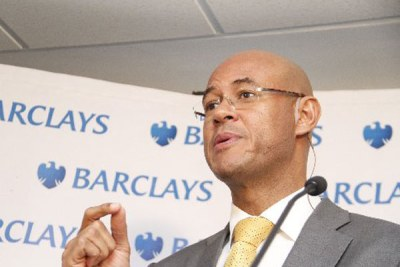 Barclays Bank CEO Jeremy Awori during a media briefing (file photo).