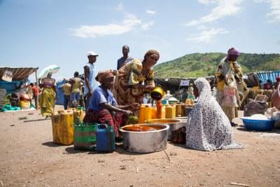 les pénuries d'aliments dans un village au Burundi