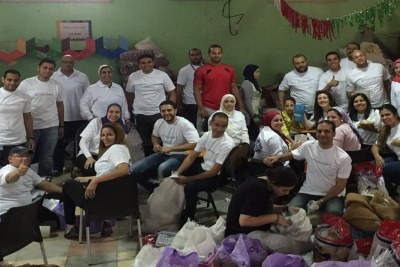 As GE Volunteers in Egypt have done for nearly three years, they partnered with the Nebny Foundation – this time to purchase and prepare Ramadan food packages for underprivileged families in Cairo.