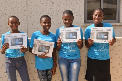 "GE recently welcomed 30 high school girls to its office in Lagos, Nigeria, for an event themed ""She can CODE,"" which was designed to give girls training in coding and computer programming."