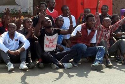 Des militants du Mouvement citoyen Lutte pour le changement (LUCHA)