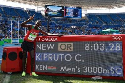 Conseslus Kipruto, nouveau champion olympique du 3000 m steeple