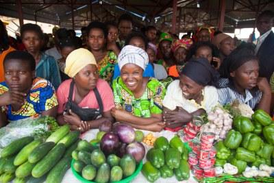 Vendors at a market (file photo).