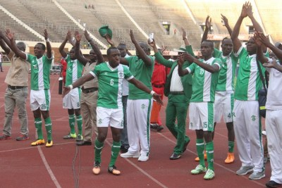 Caps United Celebrate after drawing against Dynamos