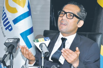 Mohammed Dewji speaking during a press conference (file photo).