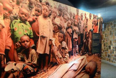 Victims of the 1994 Rwandan genocide at the Genocide Memorial in Nyamata, inside the Catholic church where thousands were slaughtered (file photo)
