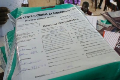 A pack of Kenya Certificate of Secondary School examination papers (file photo).