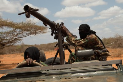Armed members of Al-Shabaab (file photo).