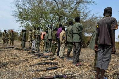 Des enfants soldats démobilisés au Soudan du Sud