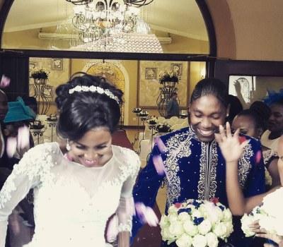 White Wedding Joy for Caster Semenya