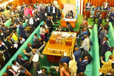 MPs jubilate after Speaker Rebecca Kadaga ordered the Attorney General to appeal Justice Steven Kavuma's court order barring the House from investigating a cash reward given to public servants involved in the Heritage and Tullow oil tax dispute case.