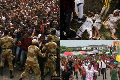 Oromo protesters (file photo).