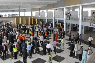 Passengers at the Murtala Muhammed Airport, Lagos (file photo)