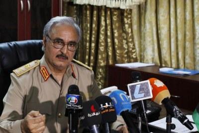 Le maréchal libyen, Khalifa Haftar