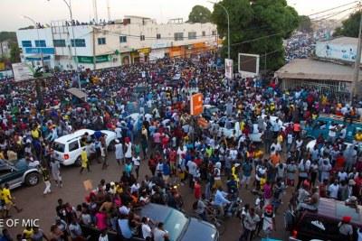 Mouvement de foule en Gambie