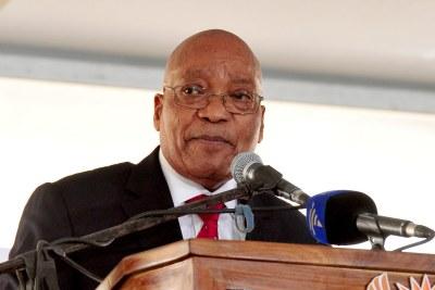 (Photo d'archives) - L'ancien président Jacob Zuma lors des célébrations de la Journée de la liberté 2017.