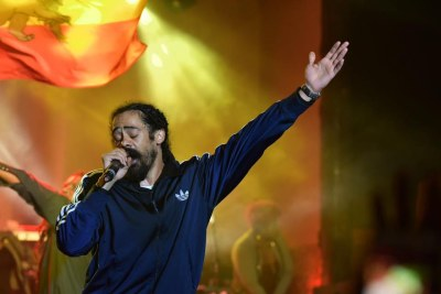 Damian Marley performs in Kenya.