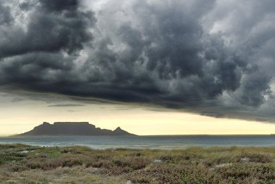 Storm clouds in the skies above Table Mountain in Cape Town (file photo).