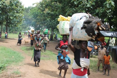 Refugees moving to a refugee camp (file photo).