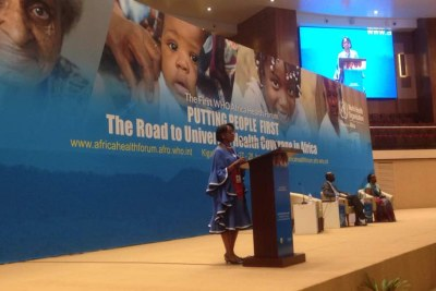 WHO Regional Director for Africa Dr Moeti is opening the 1st WHO Africa Health forum.