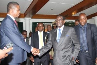 Zambian President Edgar Lungu with Zimbabwean President Robert Mugabe (file photo).