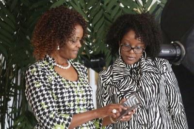 First Lady Grace Mugabe and daughter Bona (file photo).