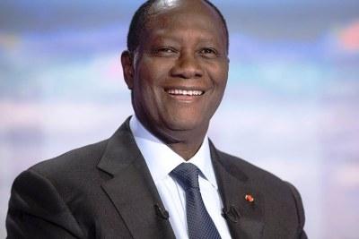 Le président Alassane Dramane Ouattara de la Côte d'Ivoire