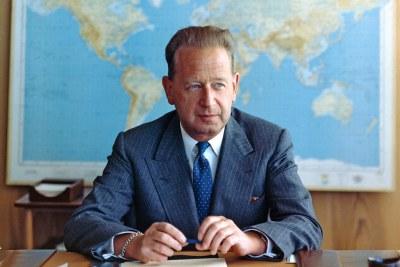 L'ancien Secrétaire général de l'ONU Dag Hammarskjöld.
