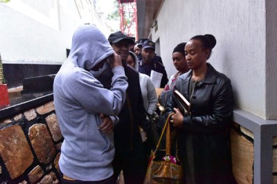 Members of the late Assinapol Rwigara's family when they were taken in for questioning by Rwanda police on September 4, 2017 at their residence in Kiyovu.