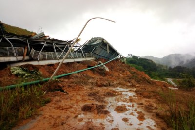A view of the mudslide at China Union's mining site in Bong Mines