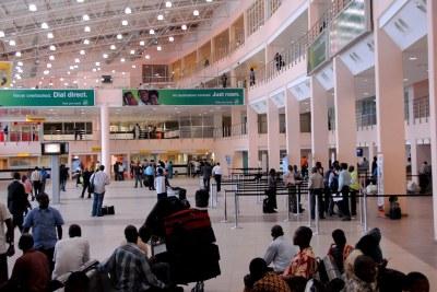 Lagos airport.