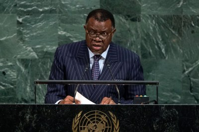 Hage Geingob, President of the Republic of Namibia, addresses the general debate of the General Assembly's seventy-second session.