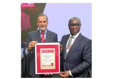 Le prix de la «Most Innovative African Stock Exchange of the year» a été remis au «Chief Executive» de la Bourse de Maurice, Sunil Benimadhu