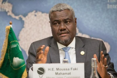 Moussa Faki Mahamat, président de la Commission de l'Union africaine (photo d'archives).