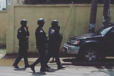 Liberia police on patrol (file photo)