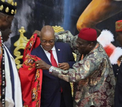South African President Jacob Zuma Receives Imo Merit Award in Nigeria