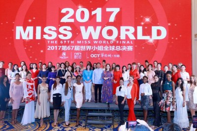 Miss World contestants.