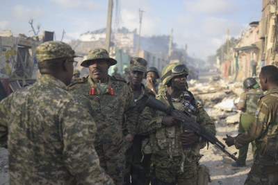 African Union troops in Somalia.