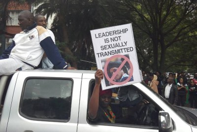 Protesters were united in their opposition to both Robert and Grace Mugabe continuing to rule Zimbabwe.