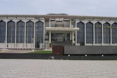 Parlement gabonais à Libreville.