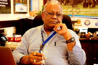Nakumatt Managing Director Atul Shah during an interview at his office.