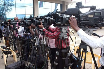 TV camera persons at work (file photo).