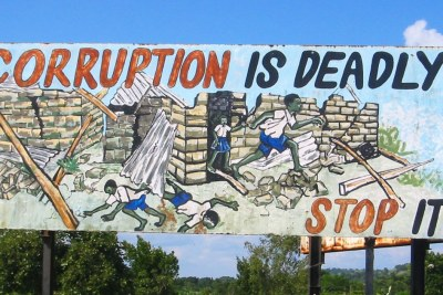 An anti-corruption billboard.