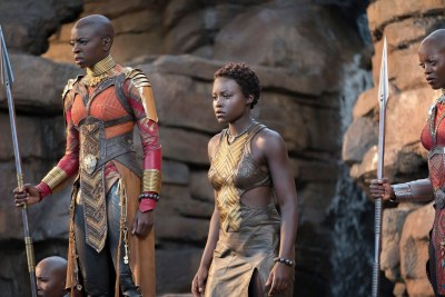 Lupita and Danai in Black Panther.