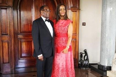 Former president Robert Mugabe and former first lady Grace Mugabe (file photo).