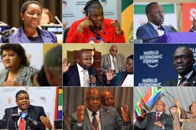 Bathabile Dlamini, Faith Muthambi, Mosebenzi Zwane, Lynne Brown, Des Van Rooyen, Malusi Gigaba, David Mahlobo, Aaron Motsoaledi, Nomvula Makonyane